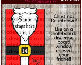 LC156 -  Christmas Countdown Santa Stops Here