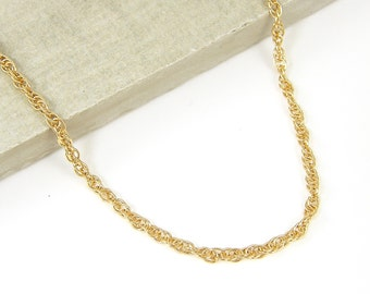 mens necklaces chain yellow filled item gift in rope gold necklace from inches knot womens jewelry classic wide link chains twisted fashion