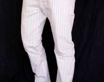 Mens striped organic cotten pants