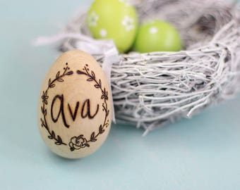 Easter gifts and decorations etsy personalized wood easter egg easter egg easter decoration easter wreath design easter negle Gallery
