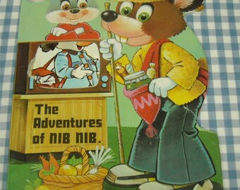 the adventures of nib nib, vintage 1970s children's book