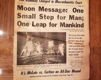 Lunar Landing Newspapers - The Washington Post