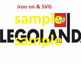 Lego Land iron on transfer and 4 colored Layers SVG, ASK for more party supplies, disney instant download, lego land svg