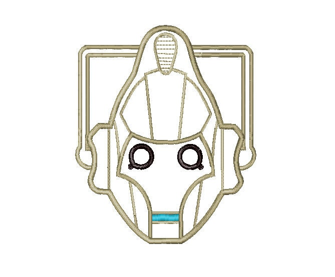 Buy3get1 Free Machine Embroidery Cyberman Doctor Who
