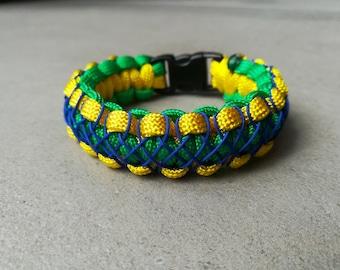 Green blue yellow bracelet