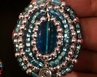 Beautiful French Beaded pendant