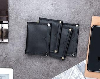 Mens leather wallet, slim wallet, minimalist wallet, leather card holder, personalized wallet, leather card wallet, wallet men, father's day