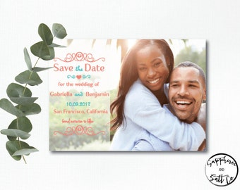 Save The Date Card -  Save The Date - Photo -  Save The Date Design - Save the Date Card Wedding - Save the date announcement