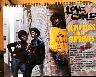 for the Diana Ross & The Supremes - Love Child MOTOWN / Album Cover Notebook /rare Vinyl!