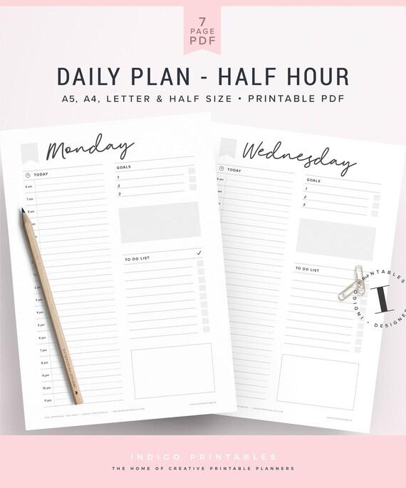 daily schedule half hour