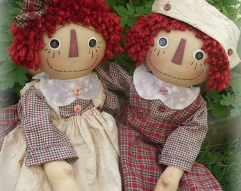 """Primitive Cloth Doll PATTERN """"Endless Love"""" KCP160"""