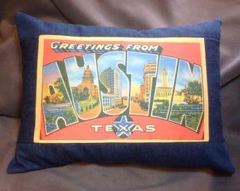 Austin Postcard Pillow