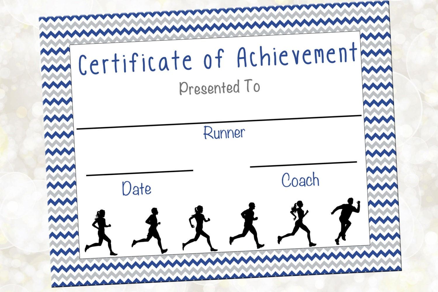 Cross country certificate jog a thon award running zoom xflitez Images