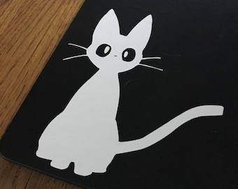 """Studio Ghibli Kiki's Delivery Service """"Jiji"""" Custom Decal - Vinyl Sticker"""