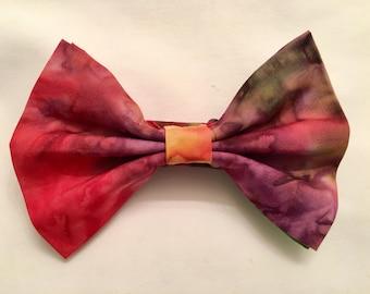 Men's Bow Ties Plum Tie Dye