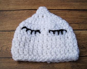 Halloween Costume, Baby Halloween Hat, Newborn, Baby Ghost Hat, Baby Hat, Newborn Ghost Hat, Infant, Newborn Hat, Baby Boy Hat Baby Girl Hat
