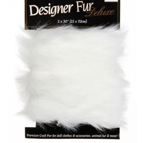 "White Faux Fur 2"" Trim for Sparkles N Spirit Dolls"