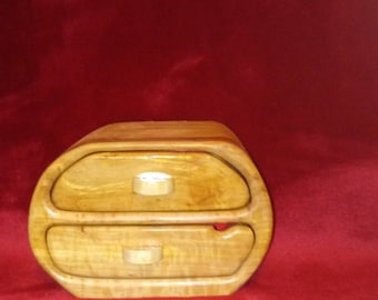 Two Drawer Bandsaw Box of Hardwoods and Plywood