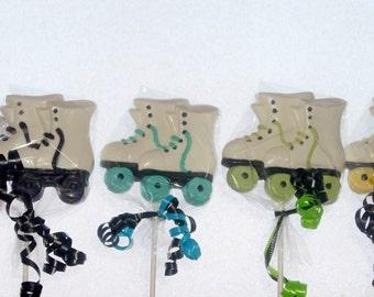 Chocolate Roller Skate Lollipops