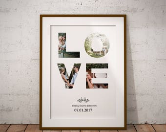 Downloadable LOVE Personalized Print