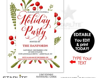 holiday invite template