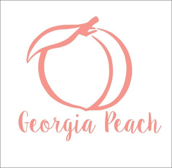 Georgia peach decal georgia peach vinyl decal car decal