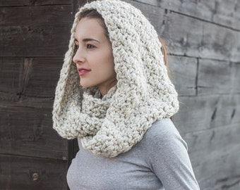 Wool Infinity Scarf // Chunky Circle Scarf // Infinity Cowl // THE WEEKENDER INFINITY shown in Wheat