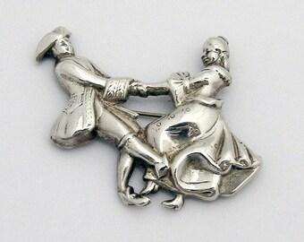 SaLe! sALe! Dancing Pair Brooch Sterling Silver