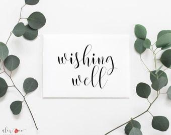 Wishing Well Printable. Wishing Well Sign. Wishing Well Wedding. Wishing Well Bridal Shower. Wedding Wishing Well. Wedding Gift Table.