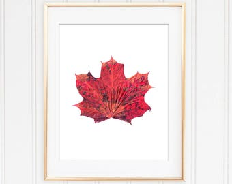 Maple Leaf Print, Autumn Decor, Wall Decor, Fall Print, Autumn Art Print, Maple Leaf Printable, Instant Autumn Prints
