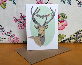 Deer Stag Greeting Card