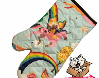 Unicorns and Rainbows Oven Mitt