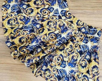 Arts swirl Doctor who vintage style circle skirt