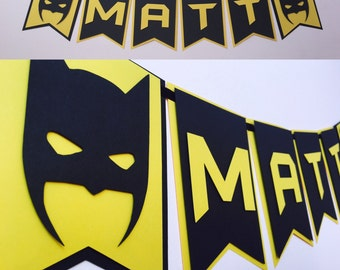 Batman Garland Batman Party Theme Birthday Decoration