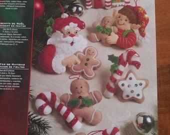 Christmas ornaments set of 6 - Christmas Cookies - Bucilla
