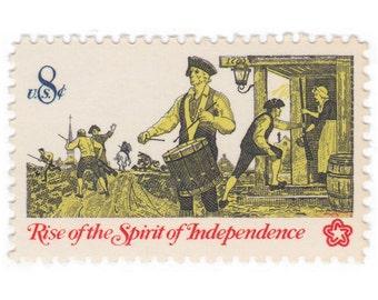 10 Unused Vintage Postage Stamps - 1973 8c Drummer and Soldiers - Item No. 1479