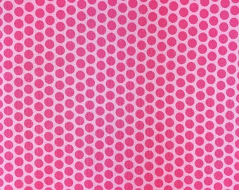 Pink blender fabric, Pink polka dots tone on tone, Pink semi solid fabric 100% cotton  for Quilting, arts, crafts and general sewing.
