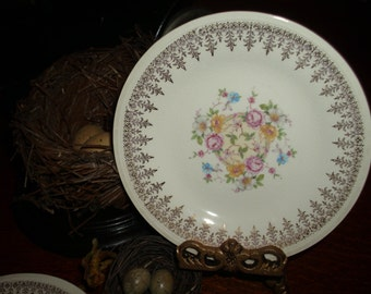 Edwin M. Knowles set of 4 bread and butter plates