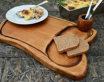 Wooden Tray, Serving Board, Breakfast Board, Chopping, Carving, Chef, Men Gift, Birthday Gift, Salvaged Wood, Shabby Chic wooden platter