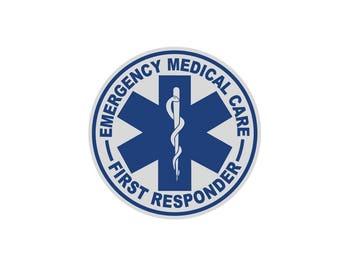 First Responder,  Reflective,  Decal,  Sticker,  Emergency Medical Care,  Star of Life,  Firefighter,  Fireman,  Car,  Helmet,  Window