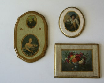 Vintage  Florentine Gilded Wall Plaques,Italy