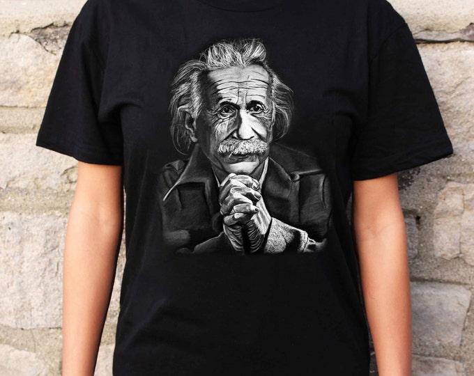 Albert Einstein - Albert Einstein T shirt - SpectorArt - Unisex T Shirt - Philly Artist Print Tee Shirt - Vintage Clothing - Einstein Art