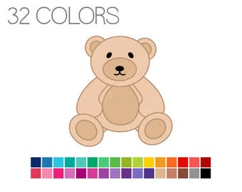 Teddy Bear Clipart - Teddy Digital Clip Art - Instant Download - Commercial Use