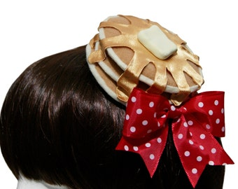 Sweet Honey Syrup Pancakes and Butter Barrette - 3 Syrup Flavor Options - Made to Order