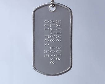 Having Guts Always Works Out for Me Dog Tag