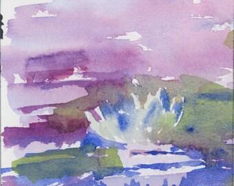 Waterlily 1 - Original Watercolor