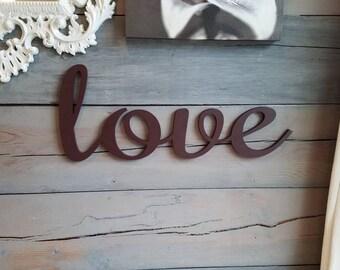 Love cutout, Love Sign, Love Wall Art, Love Sign, Love Word Sign, Word Sign, Wood Love Sign, Bedroom Decor, Love Sign