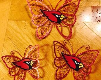 Arizona Cardinals diecut butterflies