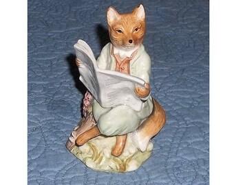 Royal Albert FOXY READING Beatrix Potter Firgurine
