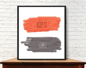 Keep it Simple - Recovery Poster - Digital Download